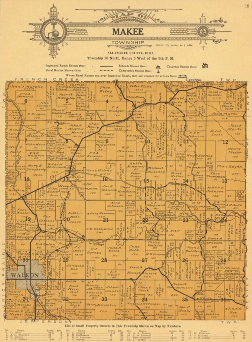 City Of Lafayette >> Allamakee co. IAGenWeb Land Records