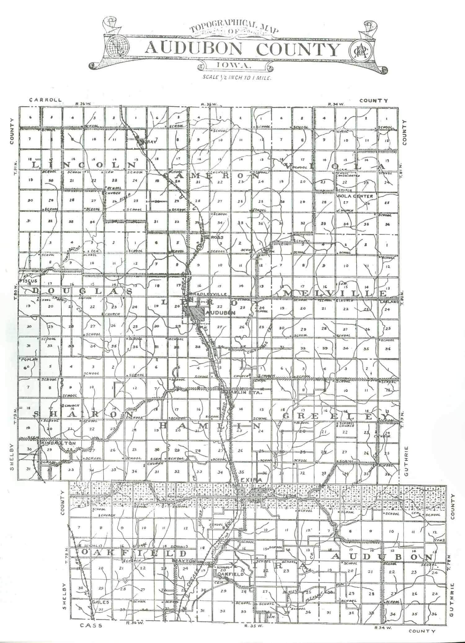 Audubon Iowa Map.Audubon County Iagenweb Iowa Maps 1921 Anderson Atlas Farmers
