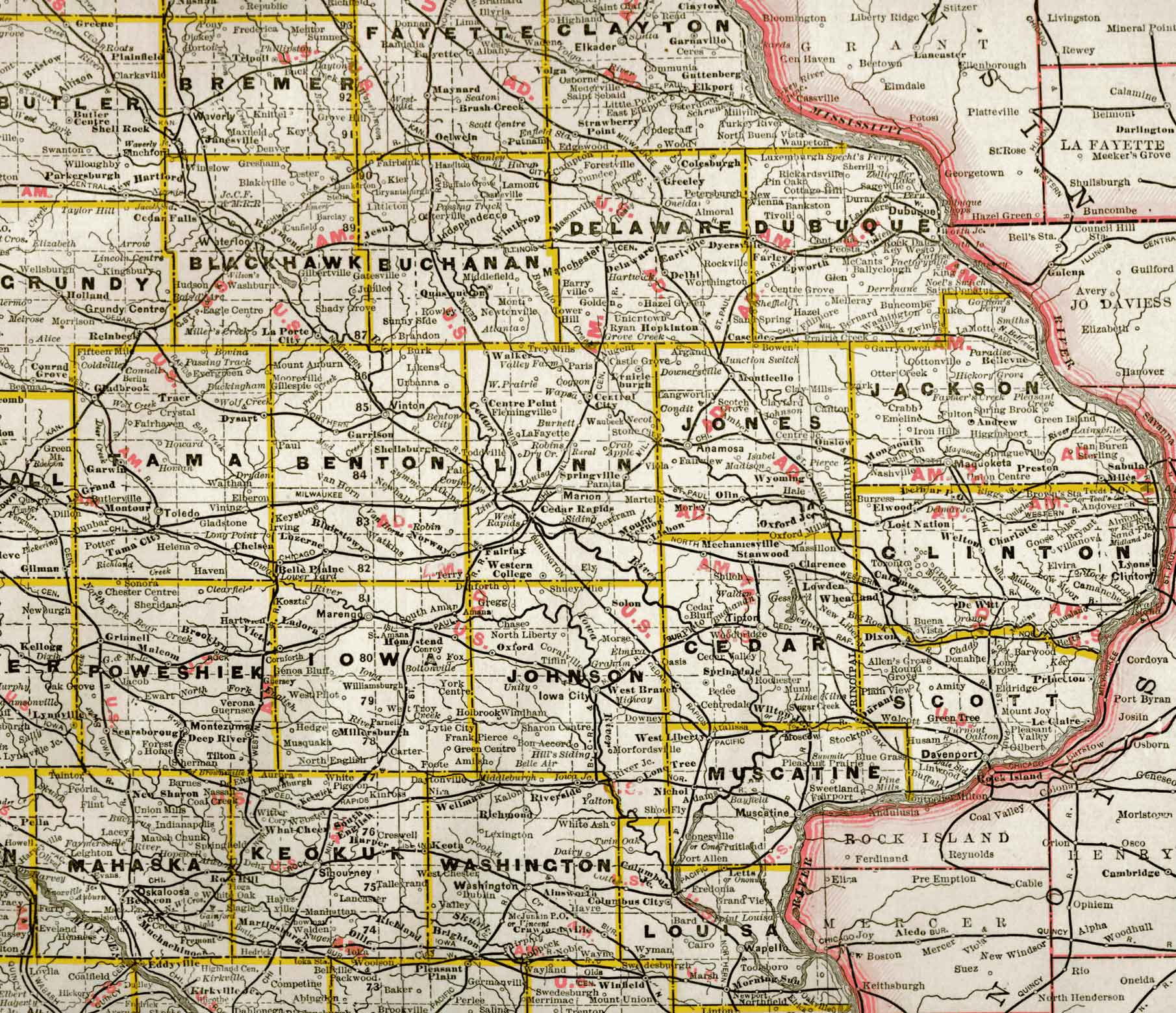 Map Of Eastern Iowa - Map of iowa