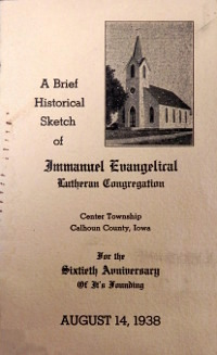 Cover of 60th Anniversary Booklet for Immanuel Lutheran
