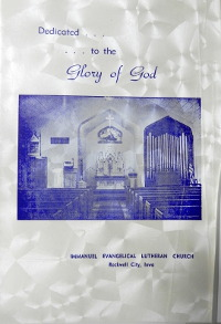 Cover of 75th Anniversary Booklet for Immanuel Lutheran