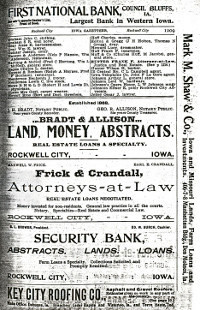 Pg. 1209 in 1903 - 1904 Iowa State Gazetteer & Business Directory