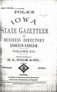 Cover of 1903 - 1904 Iowa State Gazetteer & Business Directory