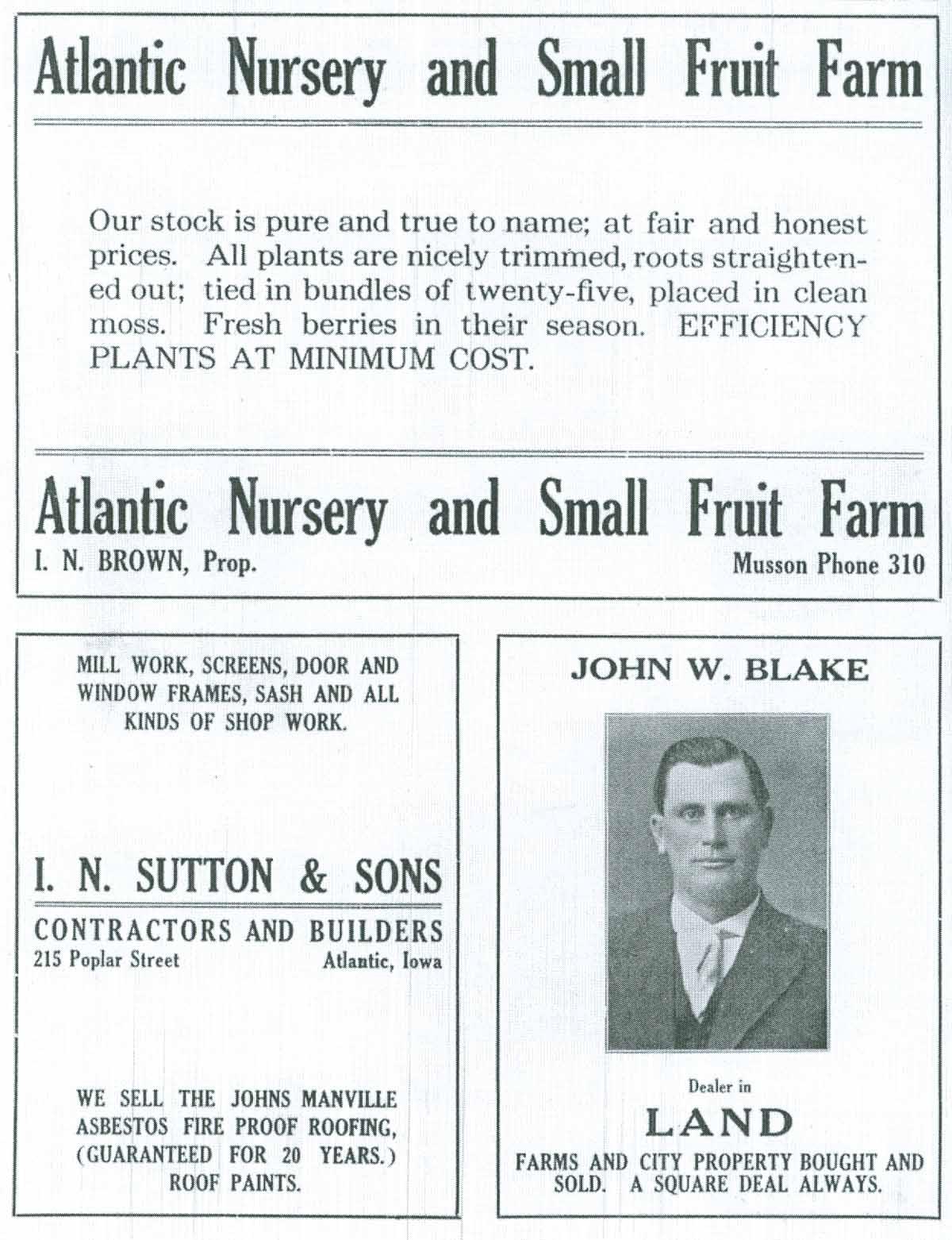 Atlantic Nursery I N Sutton Sons John W Blake Advers
