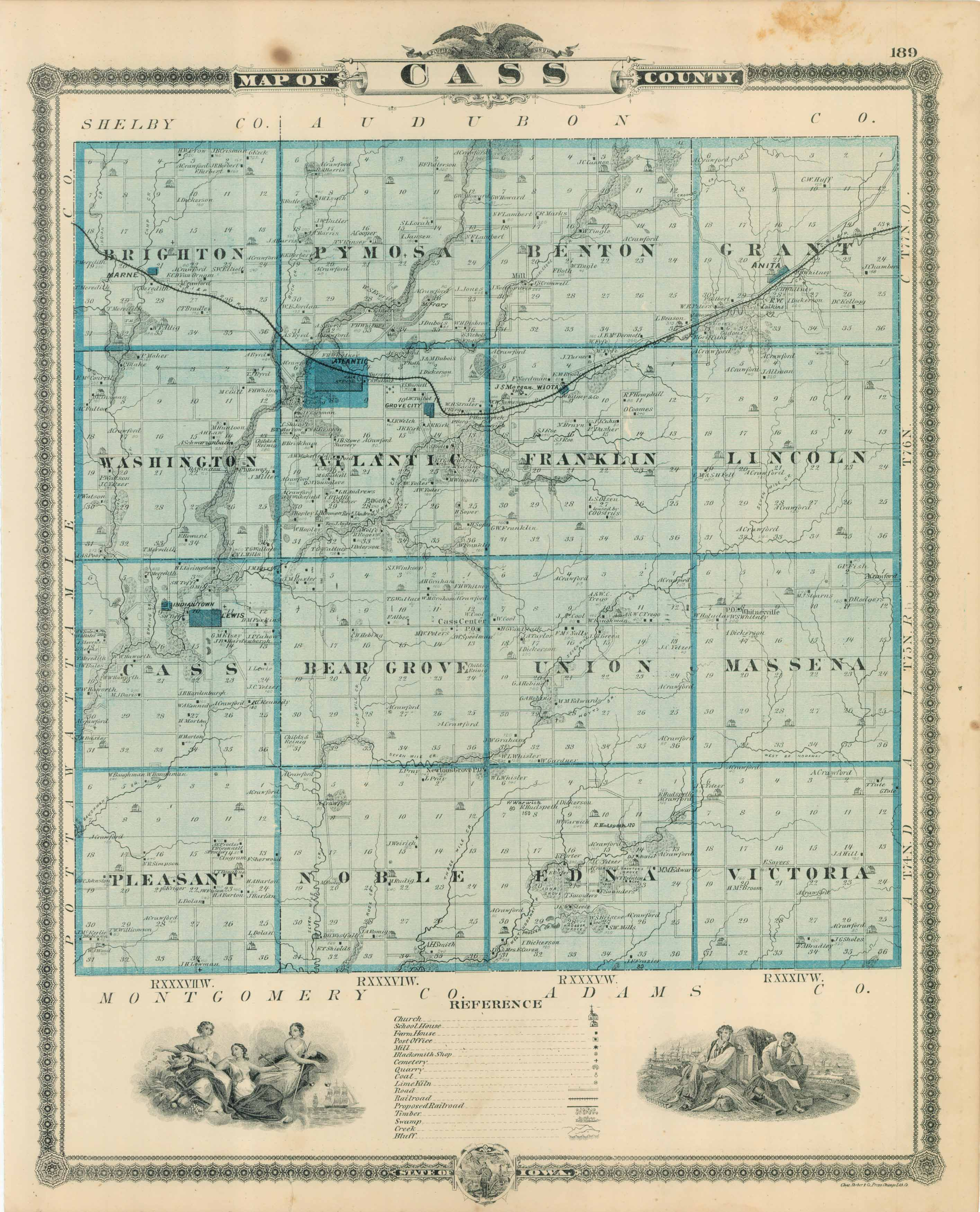 IAGenWeb: Cass County, Iowa   Maps   Main Index