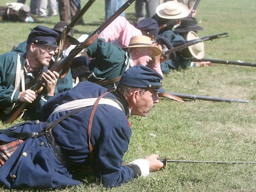 Re-enactment of 1st Battle of Bull Run, Mason City, 2011