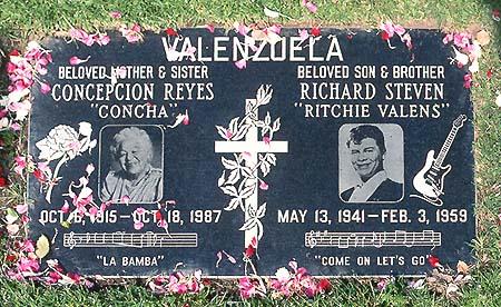 Ritchie Valens Casket Ritchie Valens 39 Gravestone
