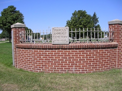 Entrance to Marcus Amherst Cemetery