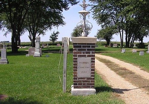 Entrance to Pleasant View (Meriden) Cemetery
