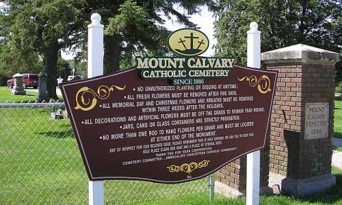 Entrance to Mount Calvary Cemetery