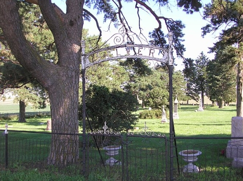 Entrance to Silver Township Cemetery