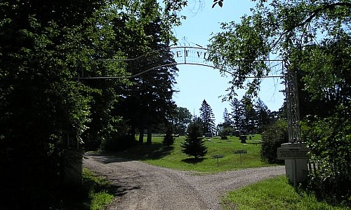 Entrance to Sunset View Cemetery