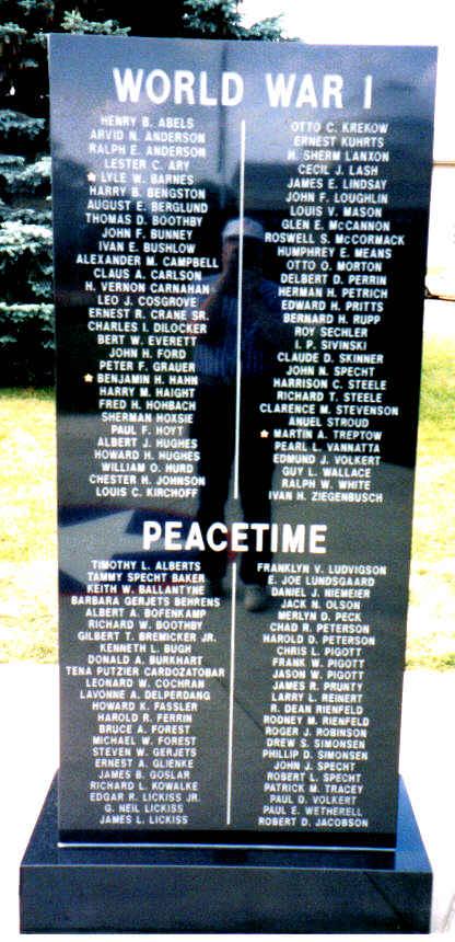 World War I Peace Memorial