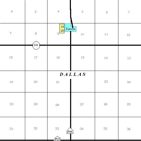 Dallas County, IA Cemetery Map