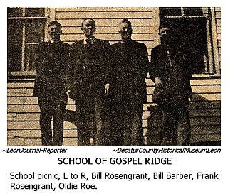 Iagenweb Decatur County Ia Gospel Ridge School No 3