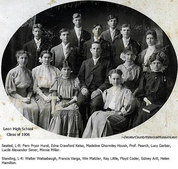 Iagenweb Decatur County Ia Leon High School Graduates