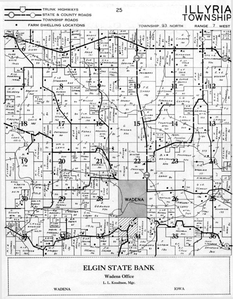 Fayette Iowa Map.Fayette County Iagenweb