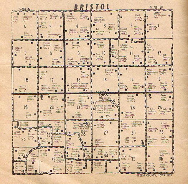 Mt Pleasant Iowa >> Greene County Iowa IAGenWeb - Maps - 1963 Farm Directory ...