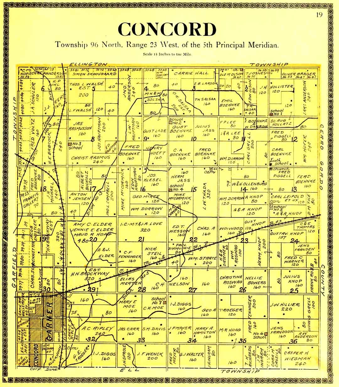 1896 1930 Concord Twp Map