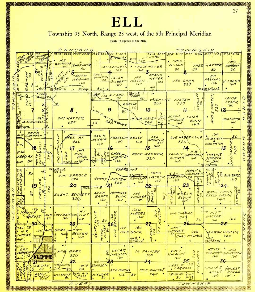 1896/1930 Ell Twp Map