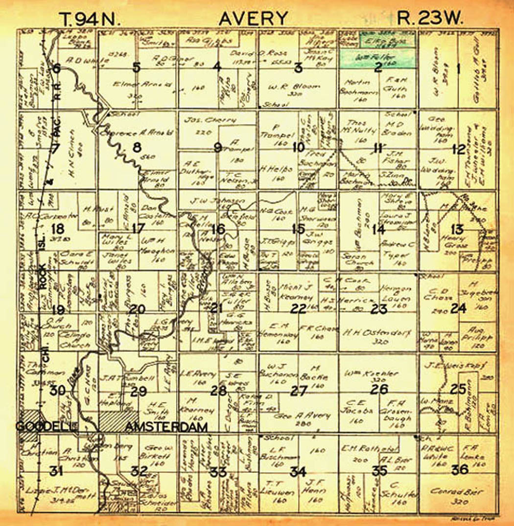 18961930 Avery Twp Map