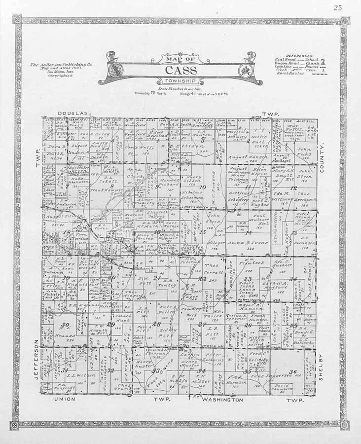 Washington County Iowa Map.Harrison County Iowa Land Records