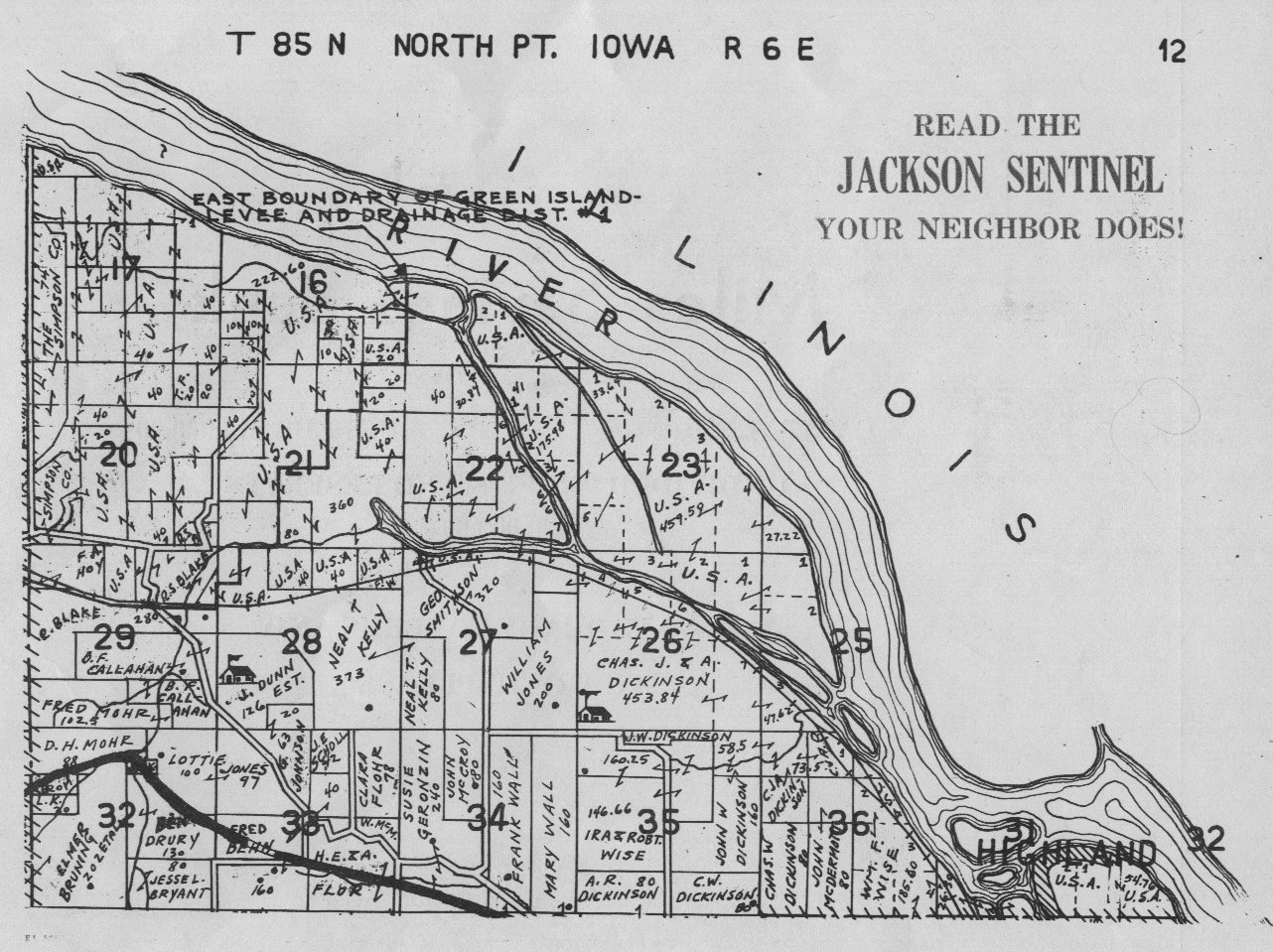 Jackson County Iowa Map.Jackson County Farm Plat Books