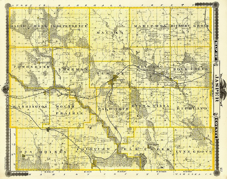 Jasper County Iowa Map.Title