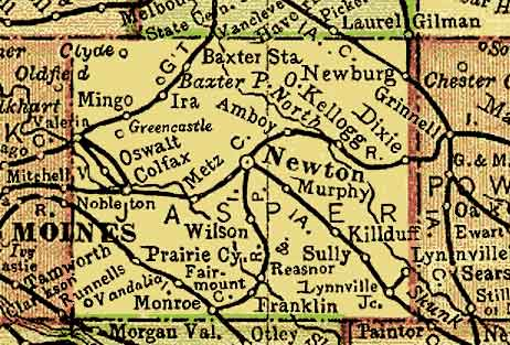 Jasper Co Iowa Maps