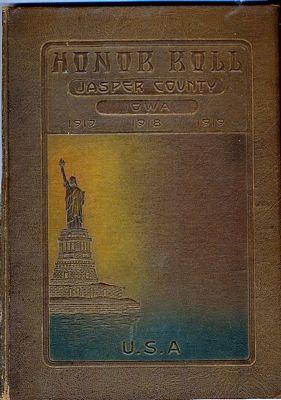 World War I Honor Roll Book
