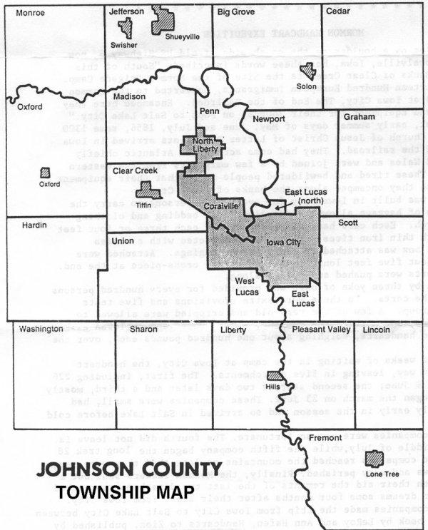 Johnson Co Township Map