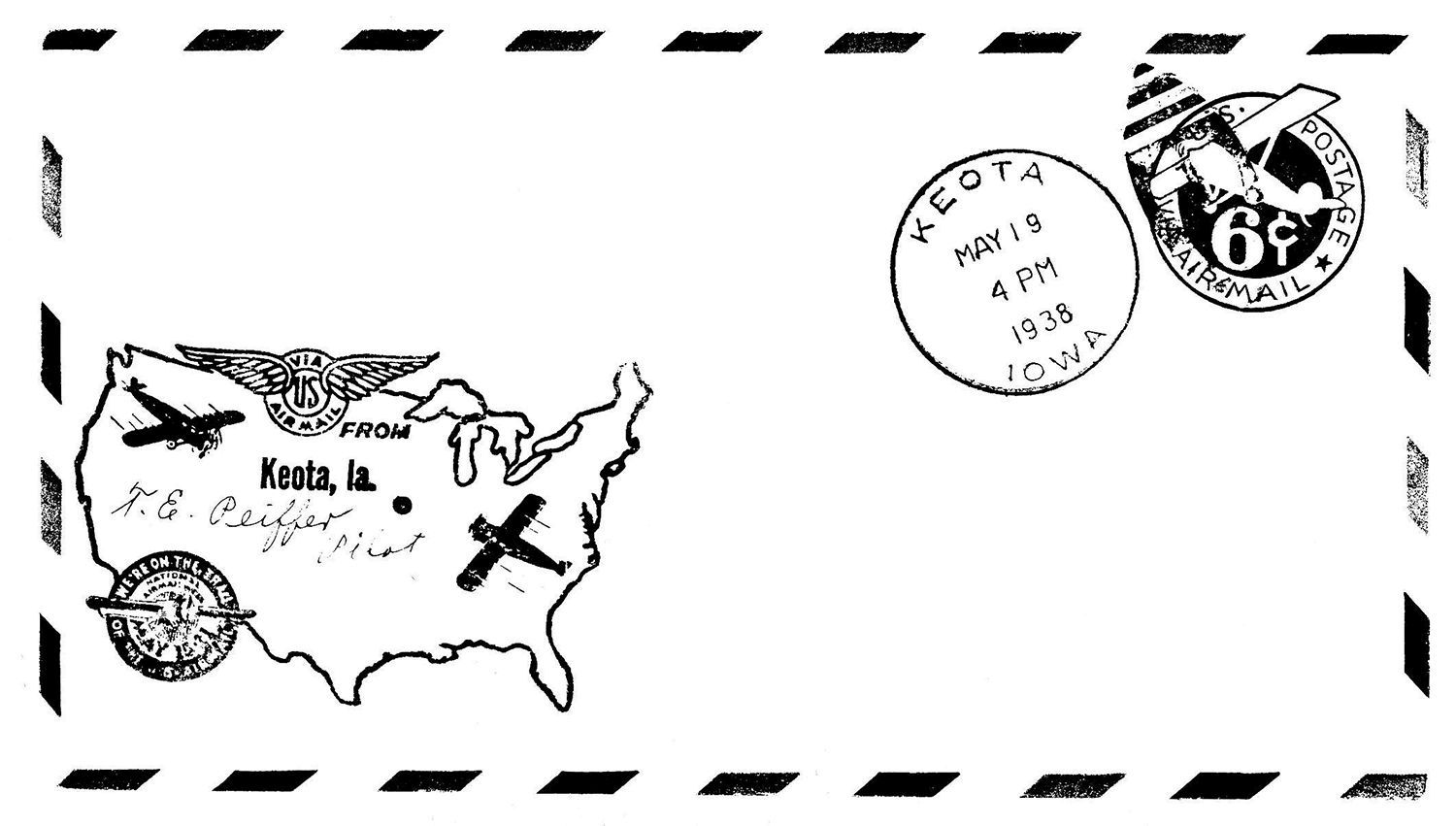 pages 131 140 1958 Dodge Hearse air mail envelope