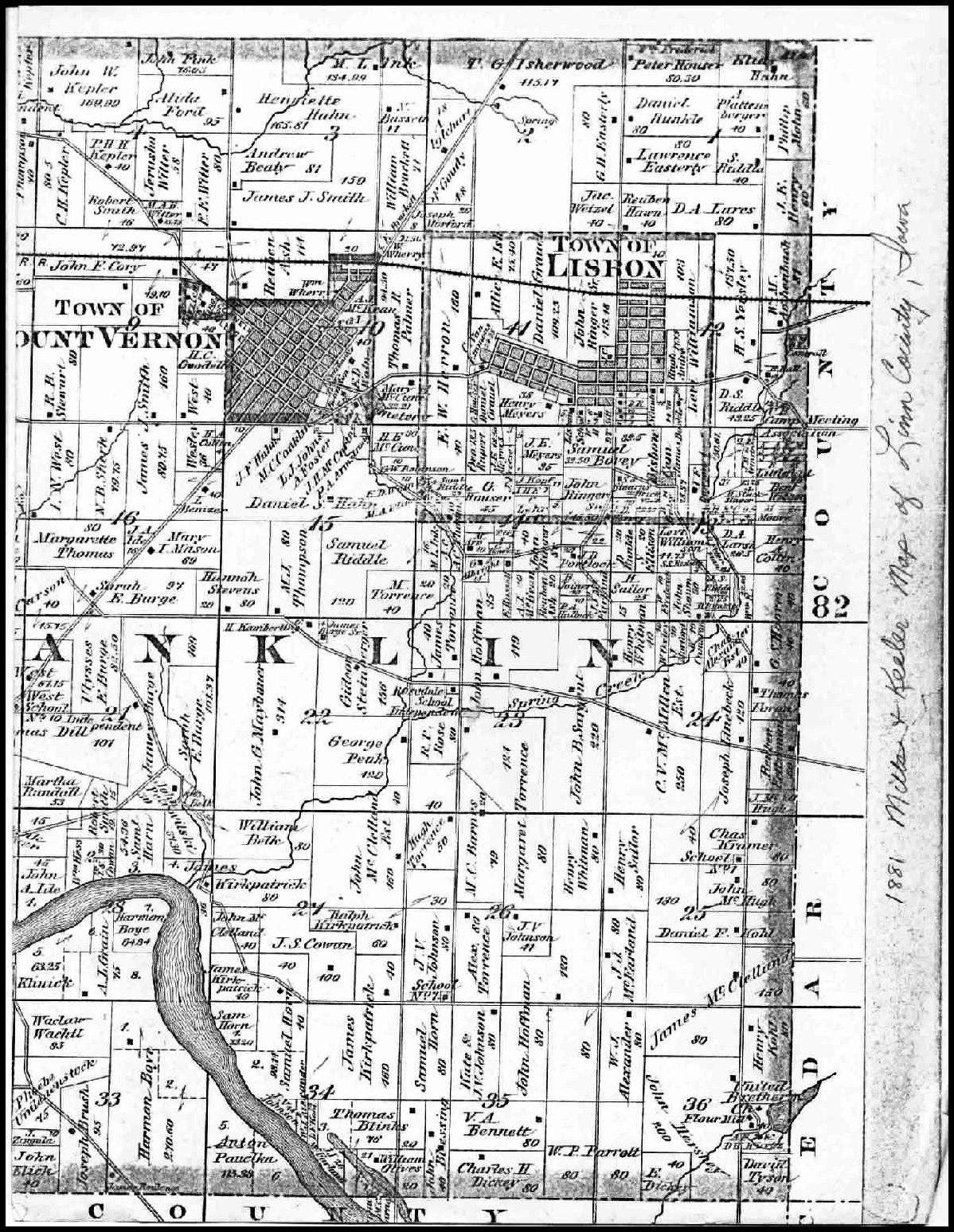 Jackson County Iowa Map.Linn County Iagenweb Maps Main Index Page