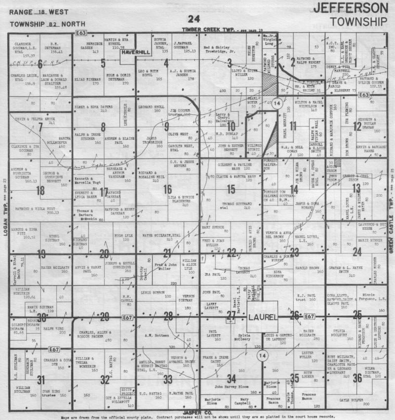 Jefferson County Iowa Map.Jefferson Township Marshall County Iowa