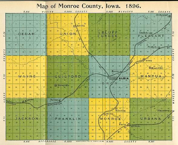 Iowa County Map - Counties in iowa