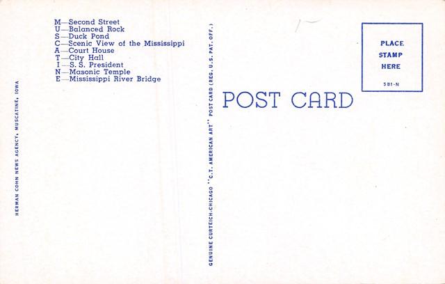 Muscatine County Iowa Postcards