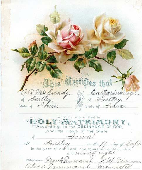 obrien state of iowa marriage license