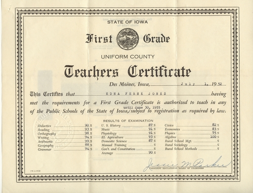 Teaching Certificate