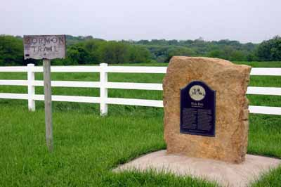 Hyde Park Marker on the Mormon Trail