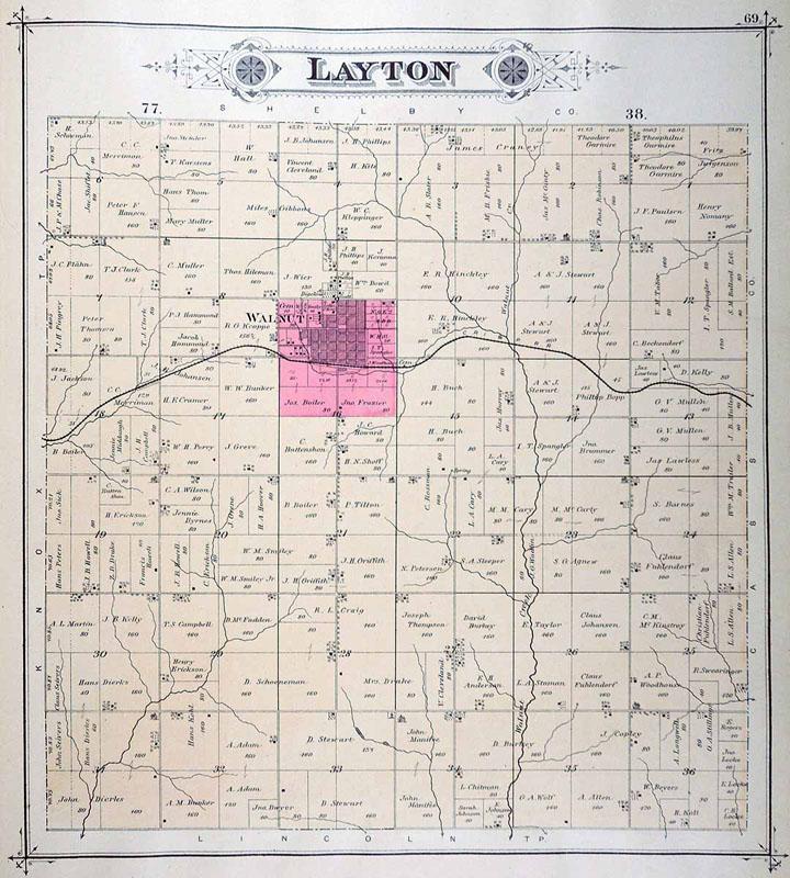 Iagenweb Pottawattamie Co Iowa Plat Maps 1885