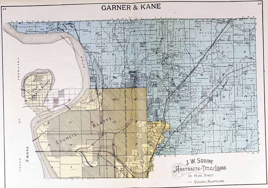 Garner Iowa Map.Iagenweb Pottawattamie Co Iowa Plat Maps 1900