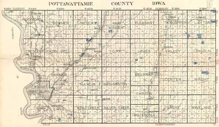 Garner Iowa Map.Iagenweb Pottawattamie Co Iowa Plat Book 1930