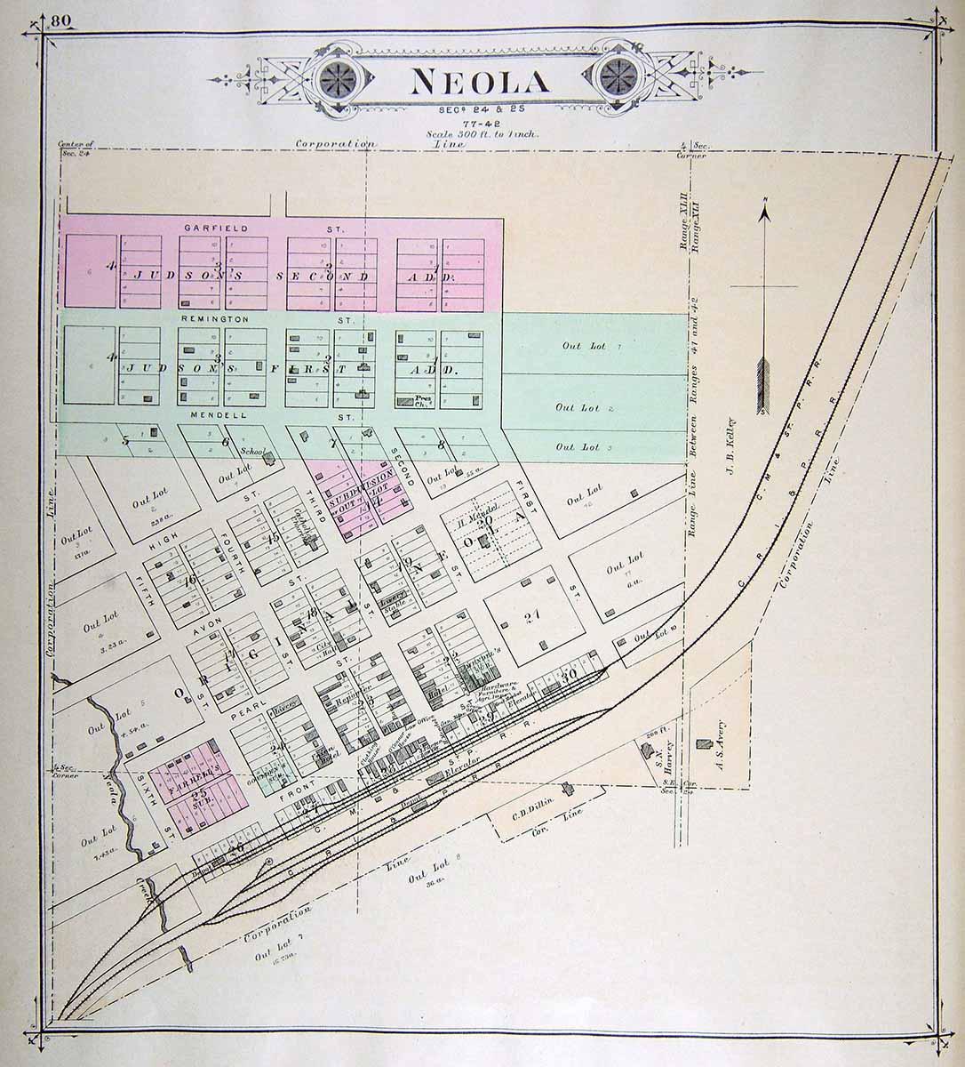 Iagenweb Pott Co City Maps 1885