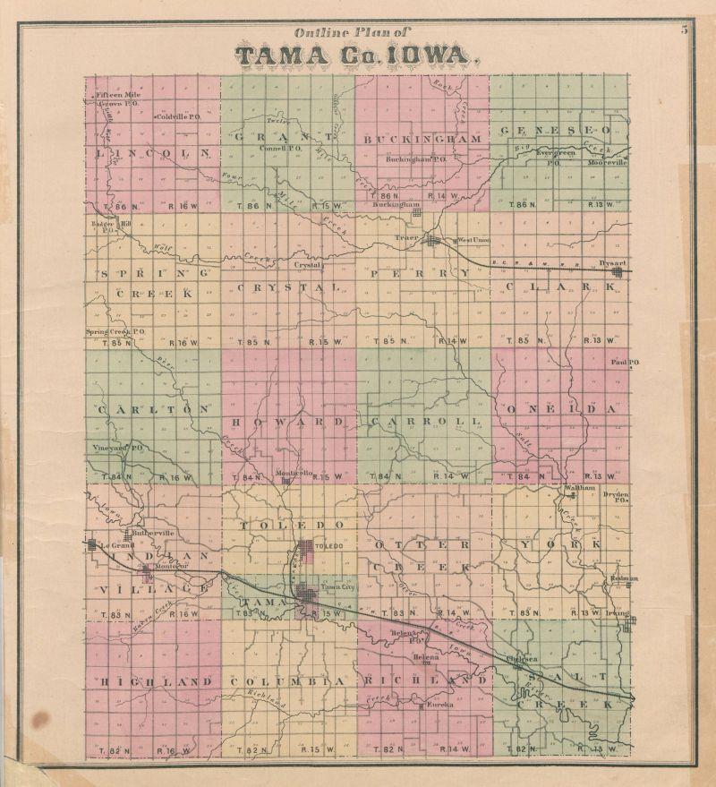 tama county iowa map Tama County Maps And Atlases