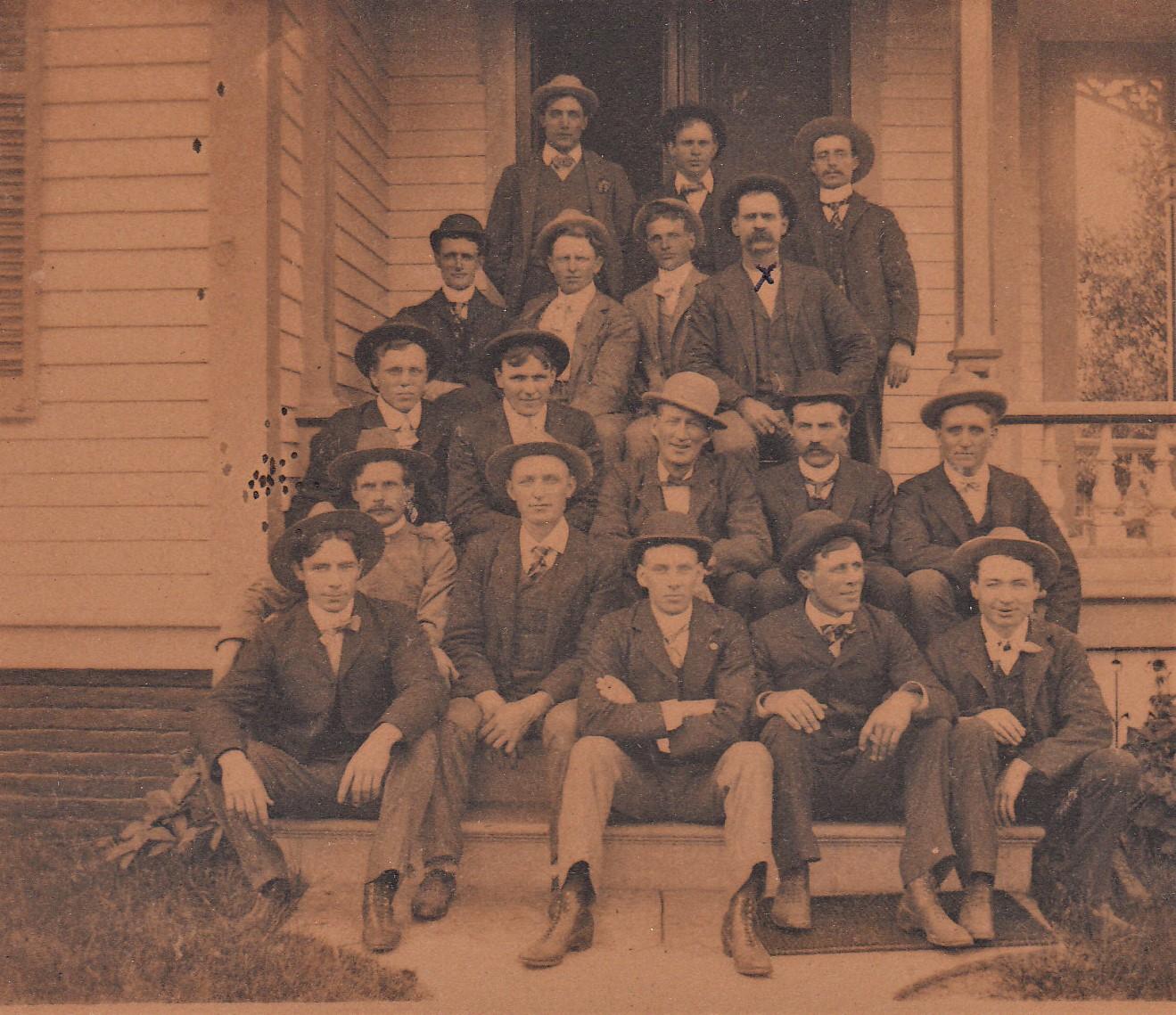 Creston Volunteer Firemen about 1879/