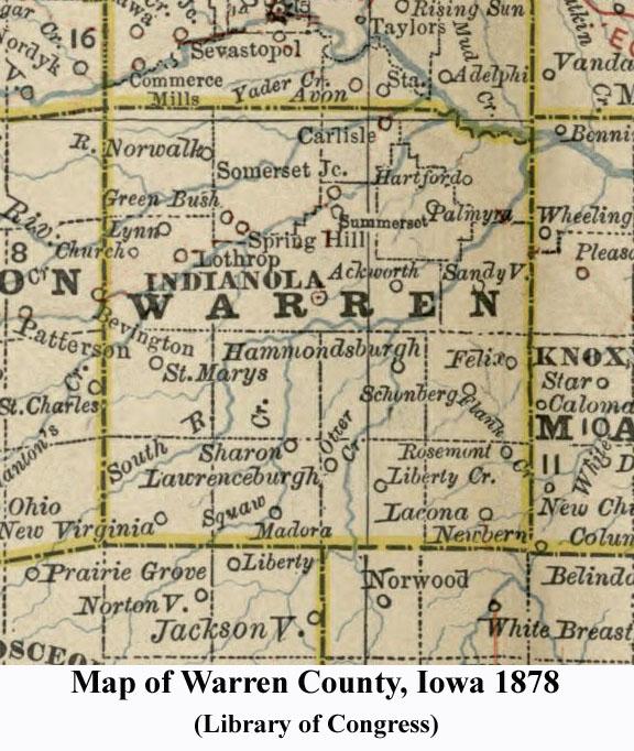 Warren County Iowa Map.List Of Maps For Warren County
