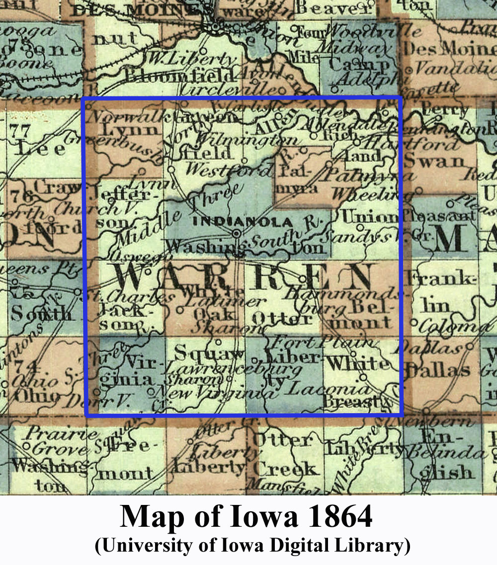 Towns In Warren County Iowa - Iowa map with counties and cities
