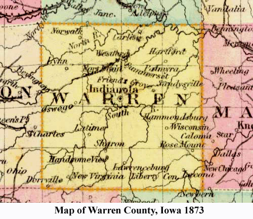 Towns In Warren County Iowa - Map of iowa counties