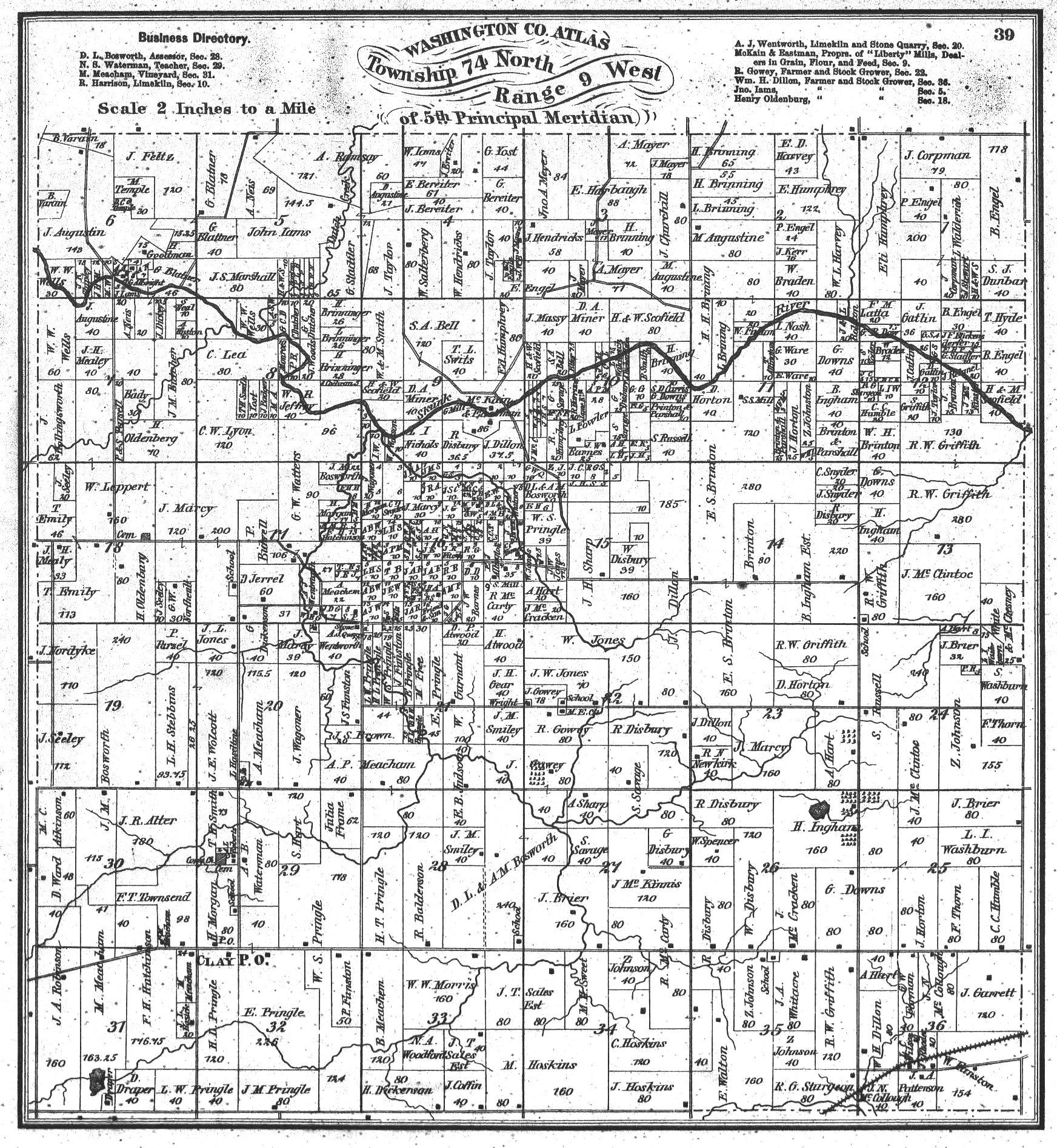 Washington County Iowa Map.Washington County Township Maps