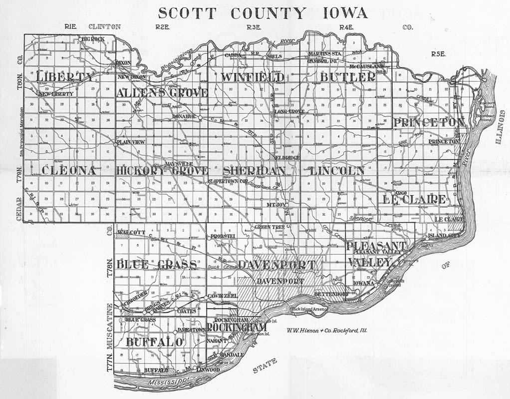 Scott County Plat Map Scott County Iowa Township Plat Book 1930 Scott County Plat Map
